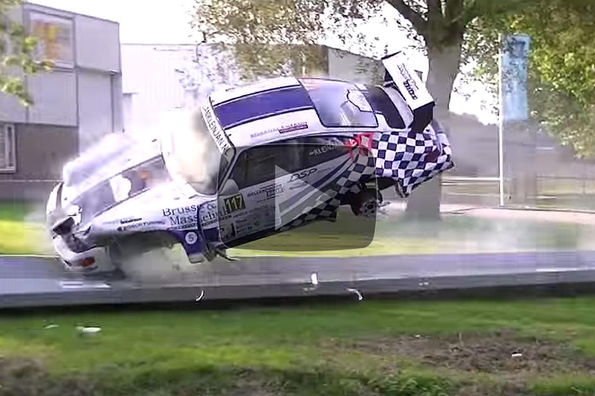 Crash Porsche 964 RSR Harry Kleinjan Hellendoorn rally 2013