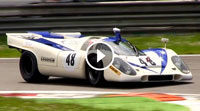 Video Porsche 917K Flat-12 Pure Engine Sound - In Action on Track