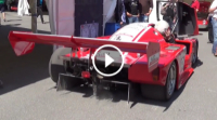 Video Le Mans Racecar with Audi 5 Cylinder / INSANE Blowoff Sound!
