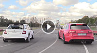 Video Skoda R5 vs. Audi RS6