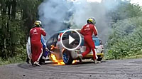 Video Citroen DS3 Feuer