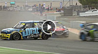 Video Rallycross-WM (RX) Barcelona - Start-Fight