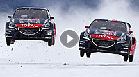 Video Loeb vs. Hansen (Peugeot 208 RX)