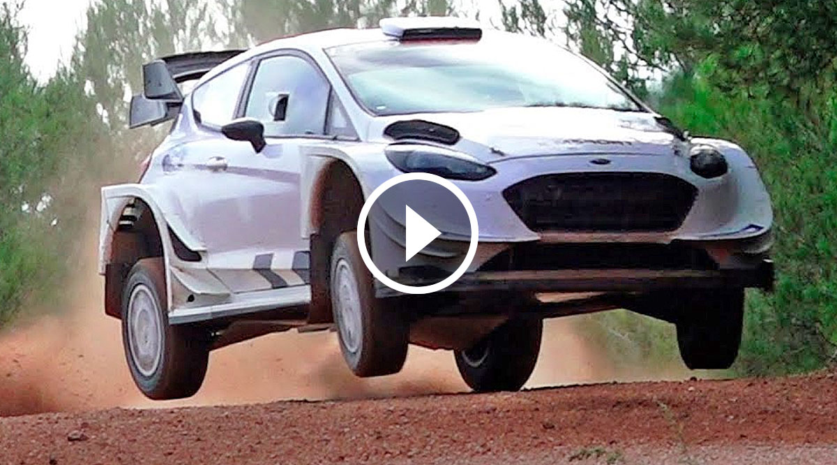 VIDEO: Test Ken Block (Ford Fiesta WRC) - Rallye Spanien 2018