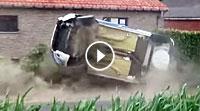 VIDEO Ypern-Rallye 2017 - Crash Opel und Peugeot