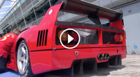 Video Ferrari F40 LM INSANE SOUND - Accelerations, Fly Bys and Backfiring!