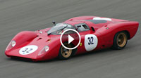 Video 1969 Ferrari 312P EPIC V12 Engine Sound @ Track!
